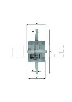 Фильтр топливный KNECHT KL63OF