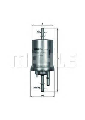 Фильтр топливный KNECHT KL1563