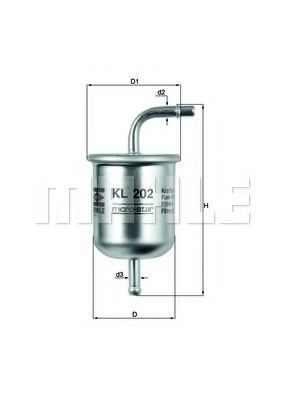 Топливный фильтр KNECHT KL202