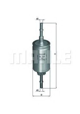 Фильтр топливный KNECHT KL458