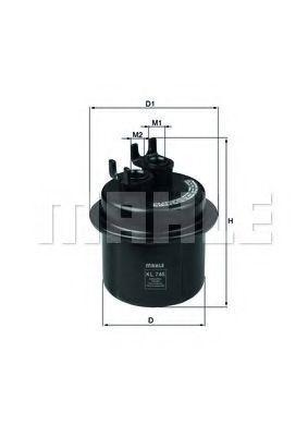 Фильтр топливный KNECHT KL746