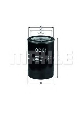 Фильтр масляный KNECHT OC81