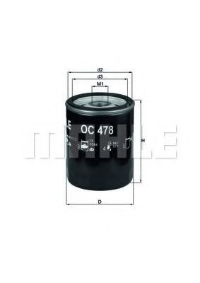 Фильтр масляный KNECHT OC478