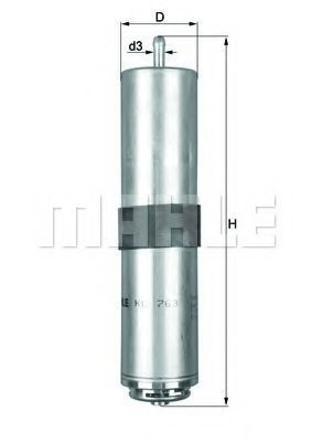 Фильтр топливный KNECHT KL763D