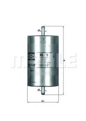 Фильтр топливный KNECHT KL9