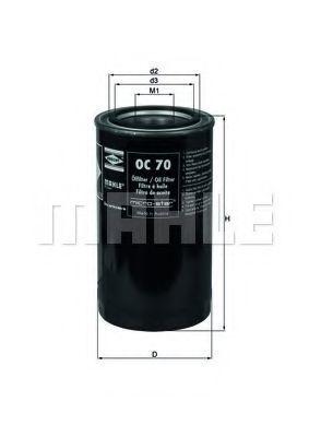 Купить Фильтр масляный KNECHT OC70