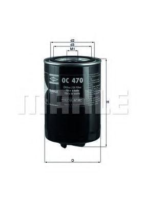 Фильтр масляный KNECHT OC470