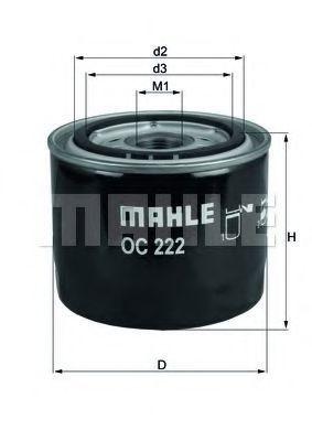 Купить Фильтр масляный KNECHT OC222