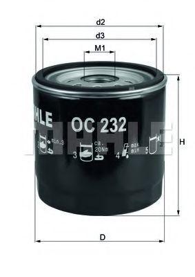 Фильтр масляный KNECHT OC232