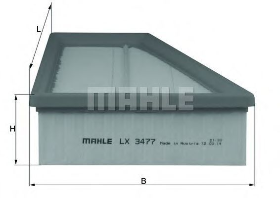Фильтр воздушный KNECHT LX3477