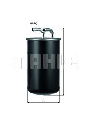 Фильтр топливный KNECHT KL737