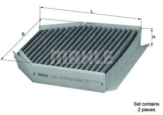 Фильтр, воздух во внутренном пространстве KNECHT LAK278S