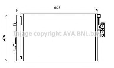 Конденсатор, кондиционер Prasco BW5479D