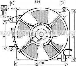 Вентилятор, охлаждение двигателя Prasco DW7519