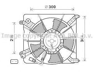 Вентилятор, охлаждение двигателя Prasco HD7537