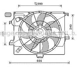 Вентилятор, охлаждение двигателя Prasco HY7545