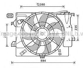 Вентилятор, охлаждение двигателя Prasco HY7546