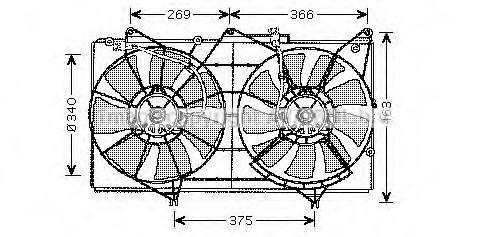 Вентилятор, охлаждение двигателя Prasco TO7531