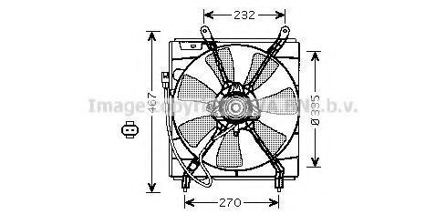 Вентилятор, охлаждение двигателя Prasco TO7536