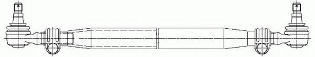 Поперечная рулевая тяга LEMFÖRDER 1983801