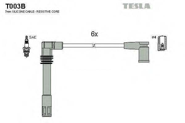 Провода высоковольтные комплект TESLA T003B