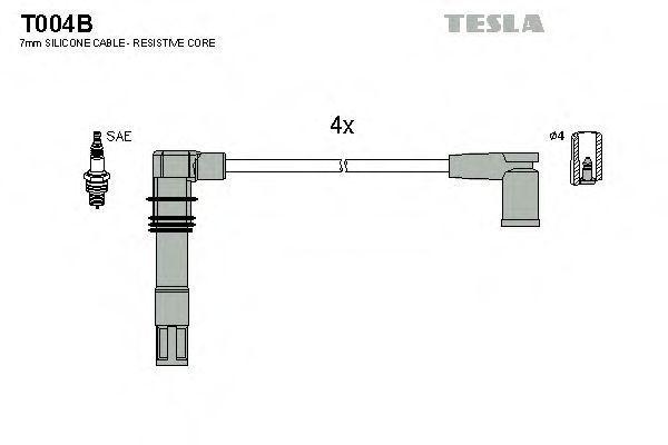 Провода высоковольтные комплект TESLA T004B