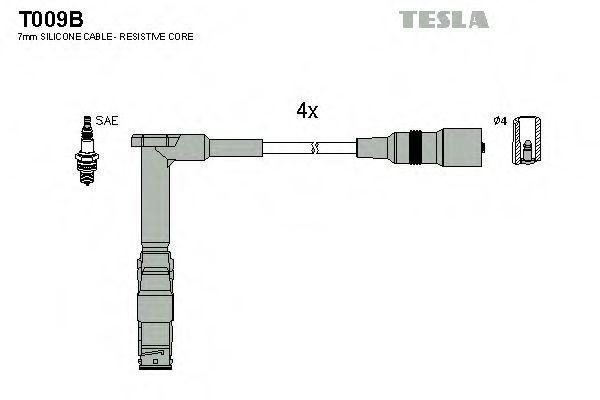 Провода высоковольтные комплект TESLA T009B