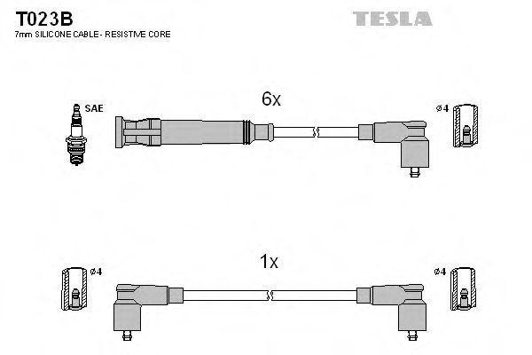 Провода высоковольтные комплект TESLA T023B