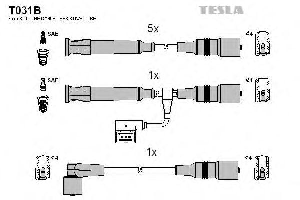Провода высоковольтные комплект TESLA T031B