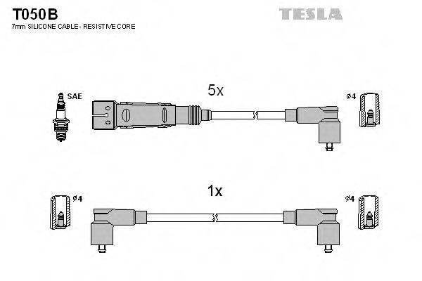 Провода высоковольтные комплект TESLA T050B