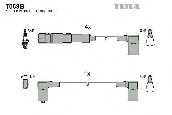 Провода высоковольтные комплект TESLA T069B