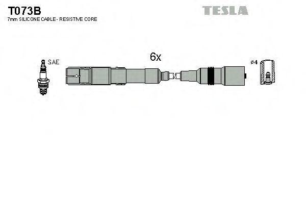 Провода высоковольтные комплект TESLA T073B