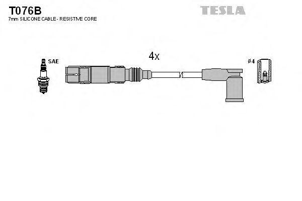 Провода высоковольтные комплект TESLA T076B