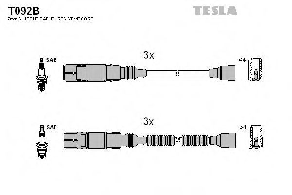 Провода высоковольтные комплект TESLA T092B