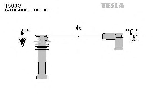 Провода высоковольтные комплект TESLA T500G