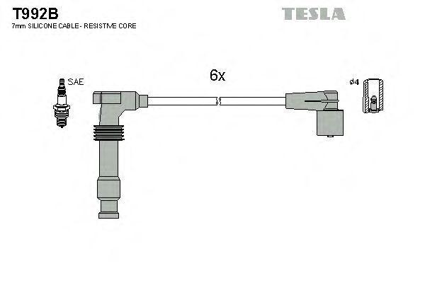 Провода высоковольтные комплект TESLA T992B