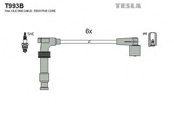Провода высоковольтные комплект TESLA T993B