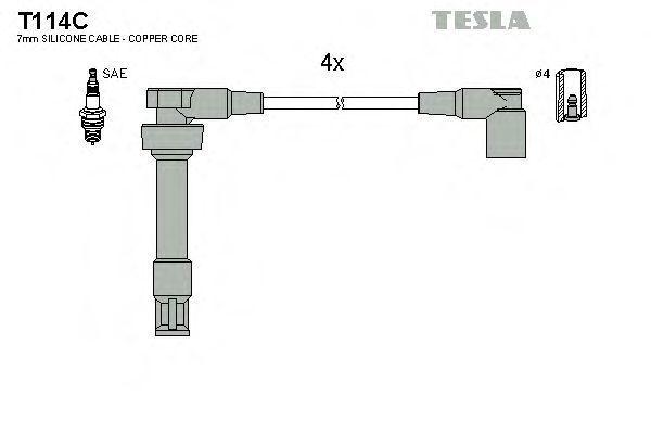 Провода высоковольтные комплект TESLA T114C