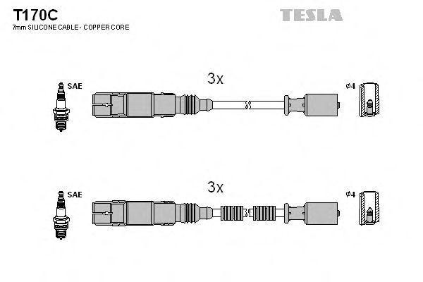 Провода высоковольтные комплект TESLA T170C