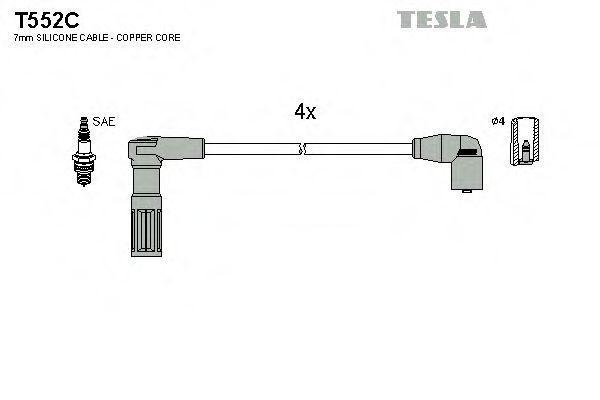 Провода высоковольтные комплект TESLA T552C