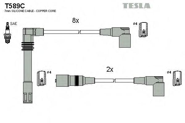 Провода высоковольтные комплект TESLA T589C