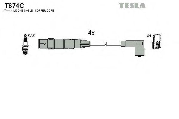 Провода высоковольтные комплект TESLA T674C