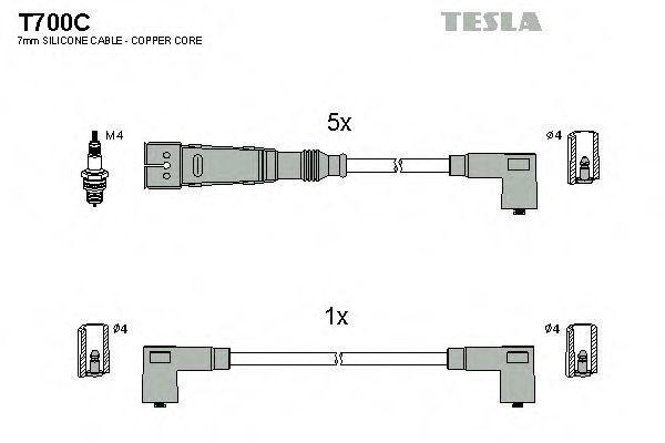 Провода высоковольтные комплект TESLA T700C