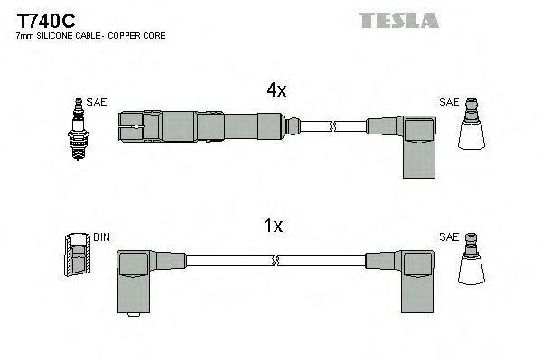 Провода высоковольтные комплект TESLA T740C
