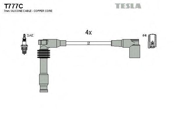 Провода высоковольтные комплект TESLA T777C