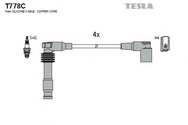 Провода высоковольтные комплект TESLA T778C