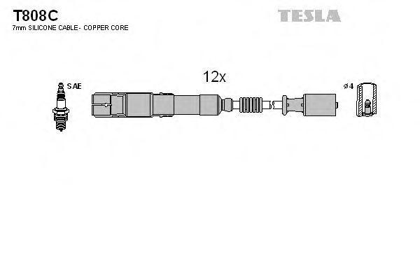 Провода высоковольтные комплект TESLA T808C