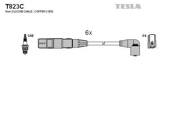 Провода высоковольтные комплект TESLA T823C