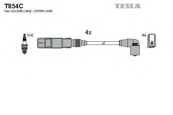Провода высоковольтные комплект TESLA T854C
