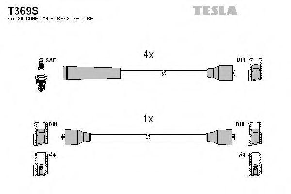 Провода высоковольтные комплект TESLA T369S